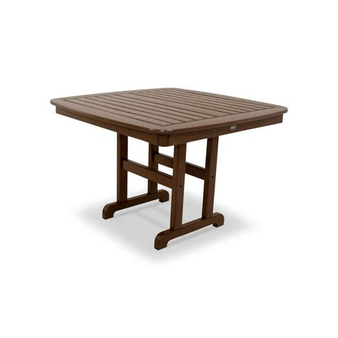 Composite Patio Table Trex Outdoor Furniture Yacht Club 44 In Vintage Lantern Patio Dining Table Txnct44vl The Home