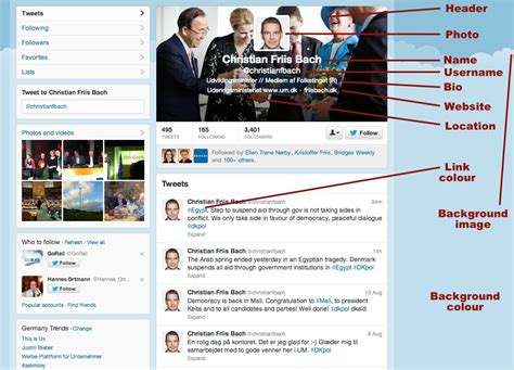 layout for twitter profile the design of a politician s twitter profile jon worth