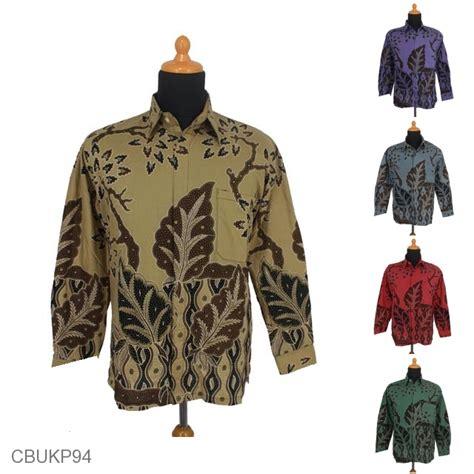 Baju Batik Kemeja Panjang Batik Minu Daun baju batik kemeja panjang motif daun jati kemeja lengan panjang murah batikunik