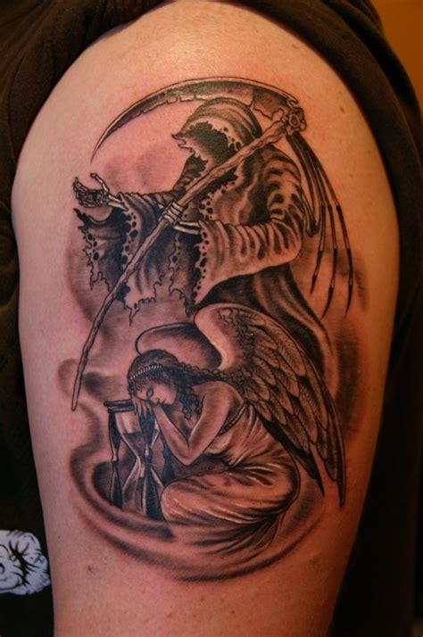 angel of death tattoos 99 breathtaking tattoos with meaning