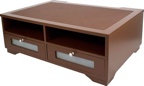 printer table with storage wood printer stand office desk shelves drawer table paper