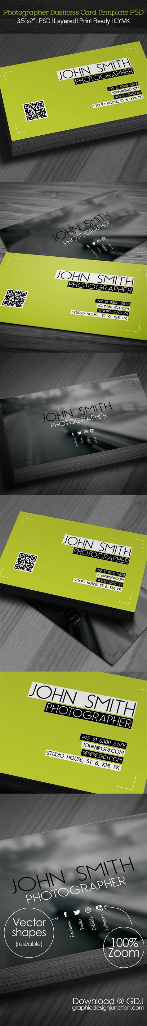 Photography Business Card Template Psd by Free Photographer Business Card Psd Template Freebies
