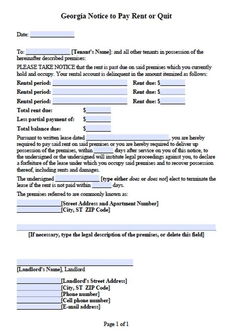 Lease Quit Notice late rent notice printable sle late rent notice form
