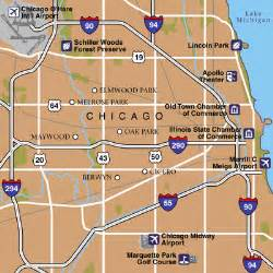 Chicago Midway Airport Map by Chicago Maps Maps To Get To And From Chicago Midway