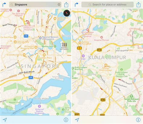 apple maps apple maps traffic data expands to singapore and malaysia
