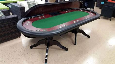 deluxe solid wood texas holdem poker card table  person