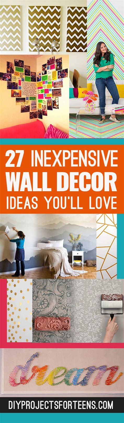 cheap room decor insanely cheap diy wall art ideas youll love creative