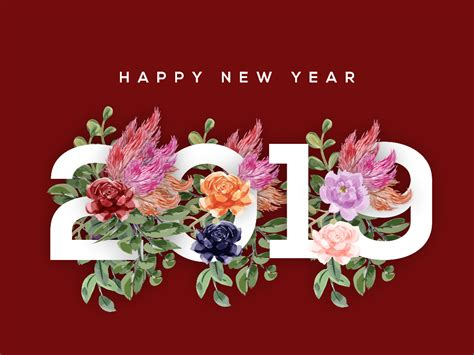 flower hd images with happy new year happy new year 2019 by alee dribbble dribbble