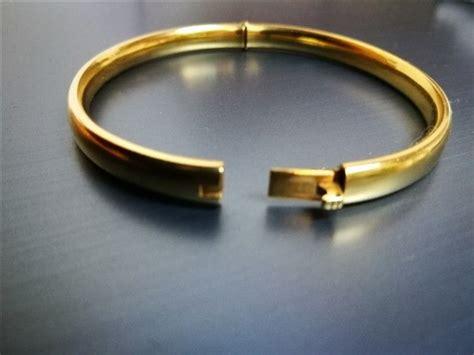 18 Carat Gold Bracelet From Organza by 18 Kt Gold Bangle Bracelet Catawiki