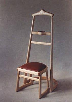wood valet stand  stool clothing storage