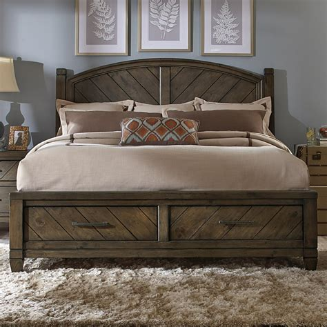 rustic king bed liberty furniture modern country 833 br ksb casual rustic
