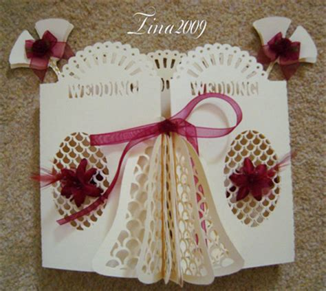 3d wedding card template svg file template wedding 3d bell door card 163 2 60