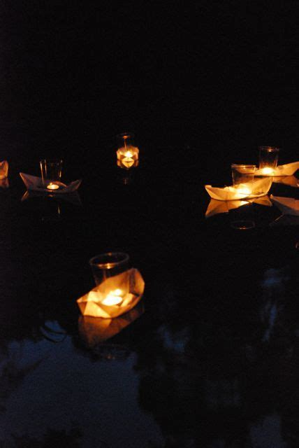 origami boat candles floating origami candle boats casey s wedding thingies