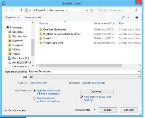 como convertir imagenes a archivos pdf c 243 mo guardar un archivo de word en formato pdf tecnicomo