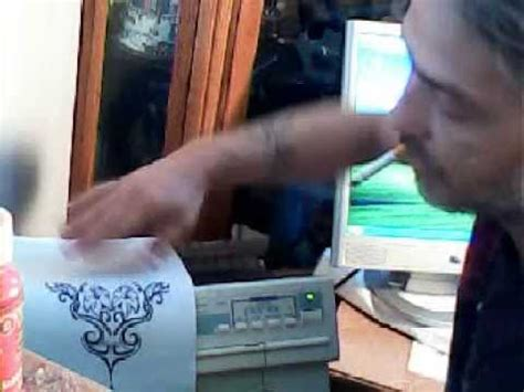 tattoo dot matrix printer tattoo stencil part 1 with a dot matrix printer youtube