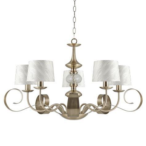 5 Ceiling Light Ajp Lighting 3065la 5pcu 5 Light Ceiling Light Antique Brass Finish With Shades