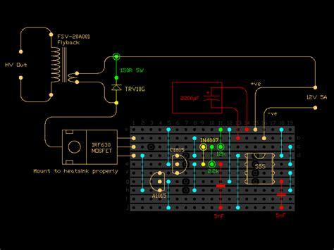 transistor based flyback driver 555 timer based flyback transformer driver 171 diy electronics y 252 ksek enerji diy