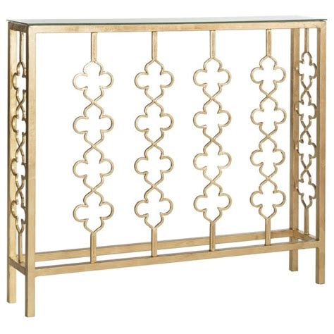 Quatrefoil Console Table Safavieh Carolina Antique Gold Leaf Console Table