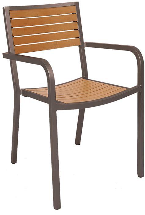 Aluminum Rust Colored Patio Arm Chair With Plastic Teak Aluminum Chairs Patio