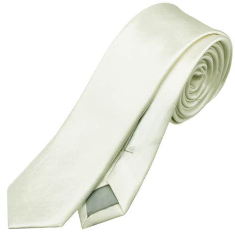mens ivory chagne white 5cm tie necktie thin