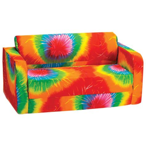 tie dye couch comfy kids polyester kids flip sofa multi colour tie
