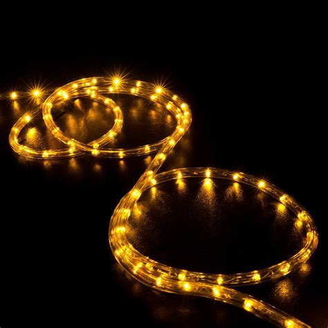 100 orange saffron yellow led rope light home outdoor