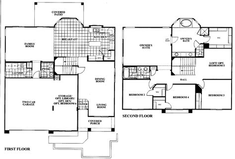 4 bedroom 2 story floor plans tangerine terrace floor plan plan 805