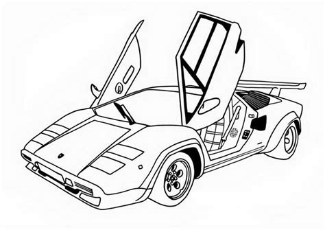 awesome race car side wings open coloring page free