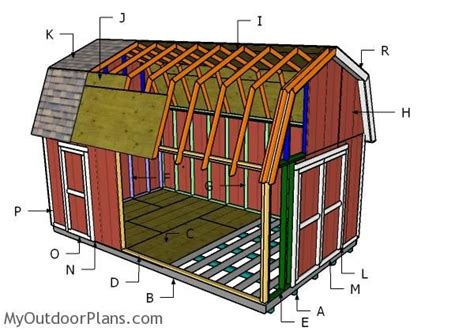 exterior gambrel roof shed plans free and gambrel roofing building a 12x20 gambrel shed outdoor shed plans free