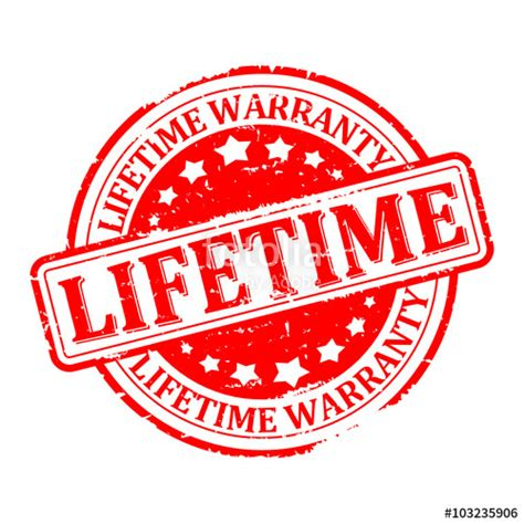 lifetime warranty logo quot scratched sted lifetime warranty vector