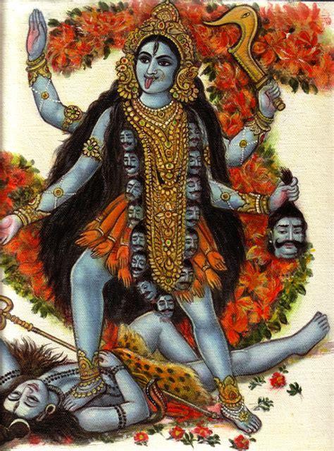 Handmade Painting - kali shiva handmade painting indian hindu goddess religion