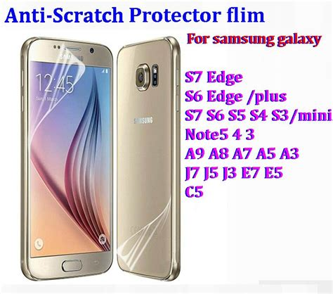 Anti Gores Limited Samsung Galaxy S7 Edge Screen Guard clear front screen protector flim cover anti scratch for samsung galaxy s7 edge s6 edge plus s5