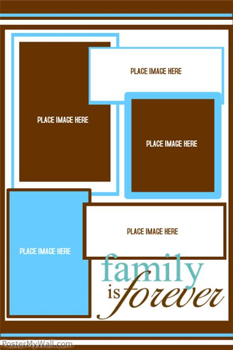 collage template maker family collage template postermywall