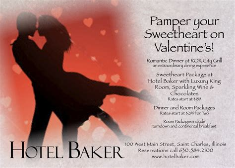 valentines hotel deals hotel baker s at hotel baker and rox city grill