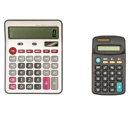 Large and Small Calculator 66887 The Home Depot