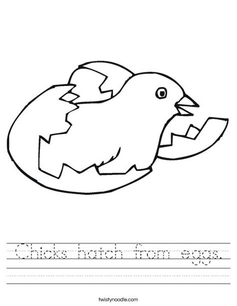 hatching egg coloring page chicks hatch from eggs worksheet twisty noodle