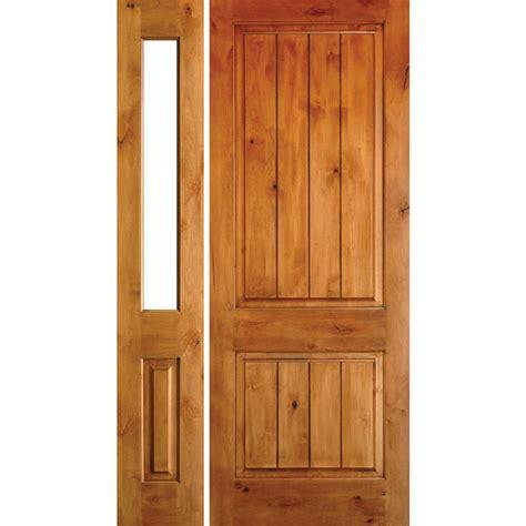 Vg Top krosswood doors 50 in x 80 in rustic knotty alder sq top