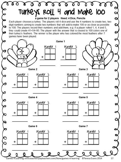 thanksgiving math worksheets third grade homeshealth info