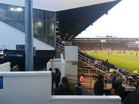 craven cottage seat view terrible view from my seat worst in the epl picture of