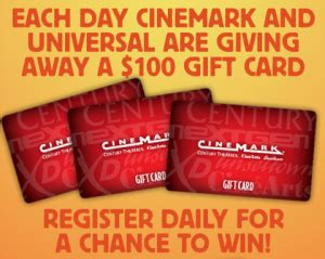 Cinemark Movie Gift Cards - win a 100 gift card from cinemark and universal 100 days of summer sweeps