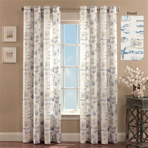 coastal drapes by the seaside coastal grommet curtain panels