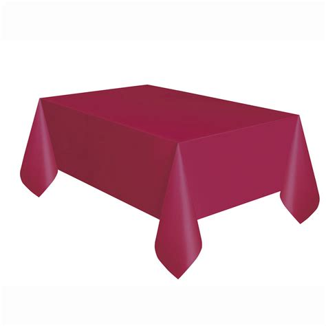 table cover rectangle burgundy plastic table cover rectangle