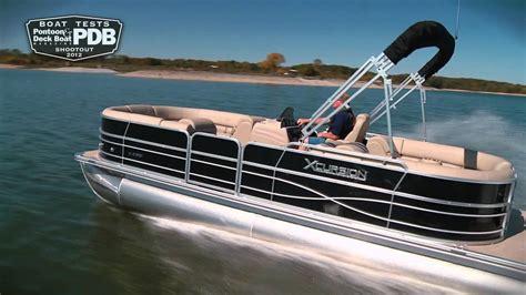 who makes xcursion pontoon boats the xcursion 23 rf 2012 pdb shootout youtube