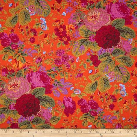 Kaffe Fassett Home Decor Fabric kaffe fassett collective grandi floral tomato home decor