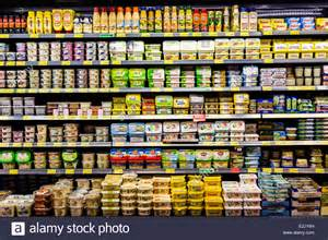 grocery shelves of processed foods pictures to pin on