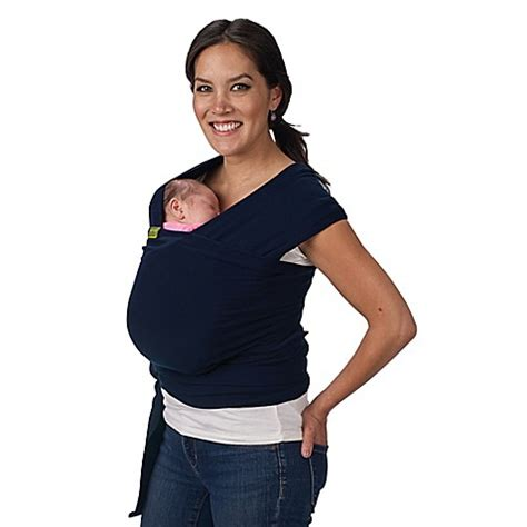 bobita baby wrap boba 174 wrap baby carrier in navy blue buybuy baby
