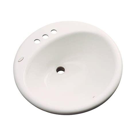 thermocast tierra drop in bathroom sink in white 85400