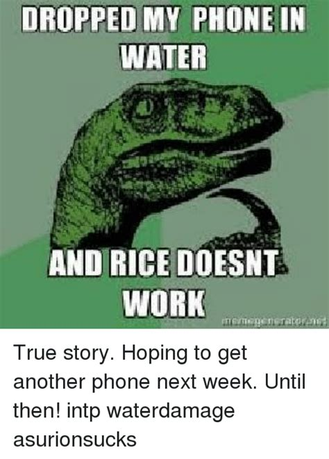 Phone Rice Meme - 25 best memes about phone in water phone in water memes