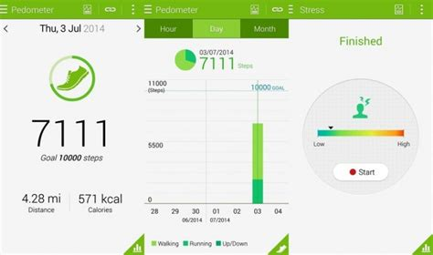 sle goal tracking utiliser l application s health sur le galaxy s android