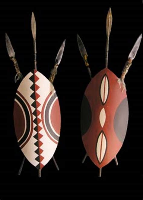 zulu tattoo prices shield african native masai w spears shield h110cm x